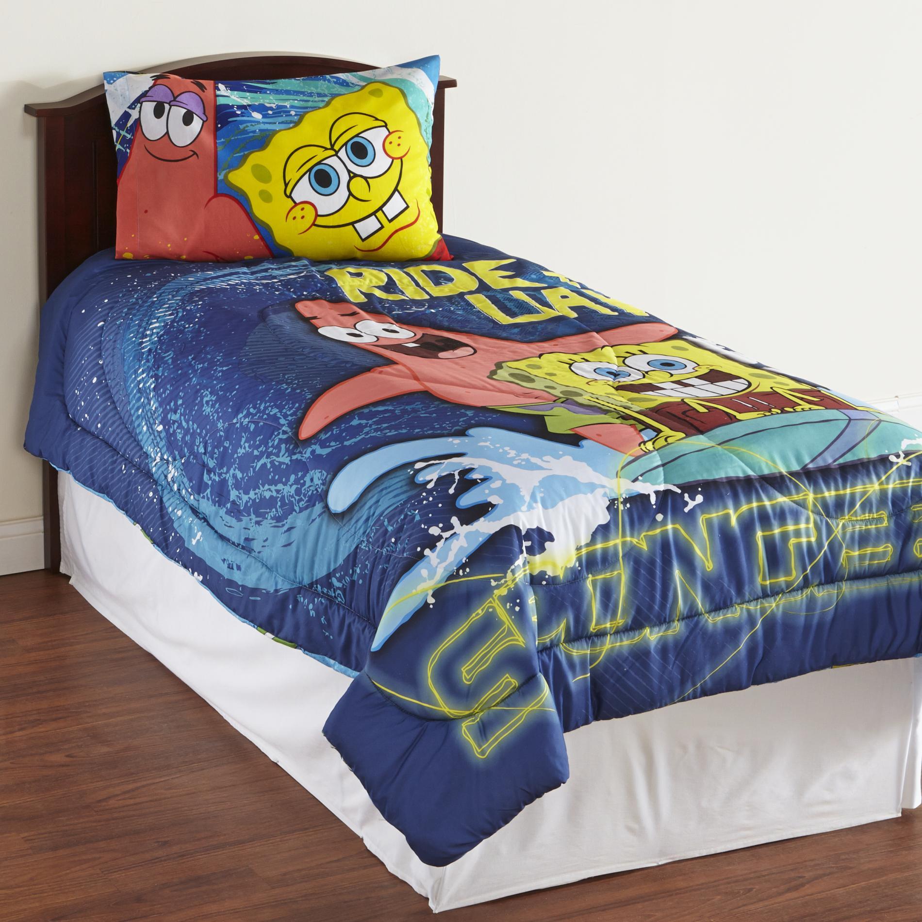 Nickelodeon Boy' Microfiber Comforter - Spongebob Squarepants