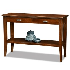 Solid Cherry Sofa Table Cover Set Price Leick Laurent Two Drawer Storage Wood Console