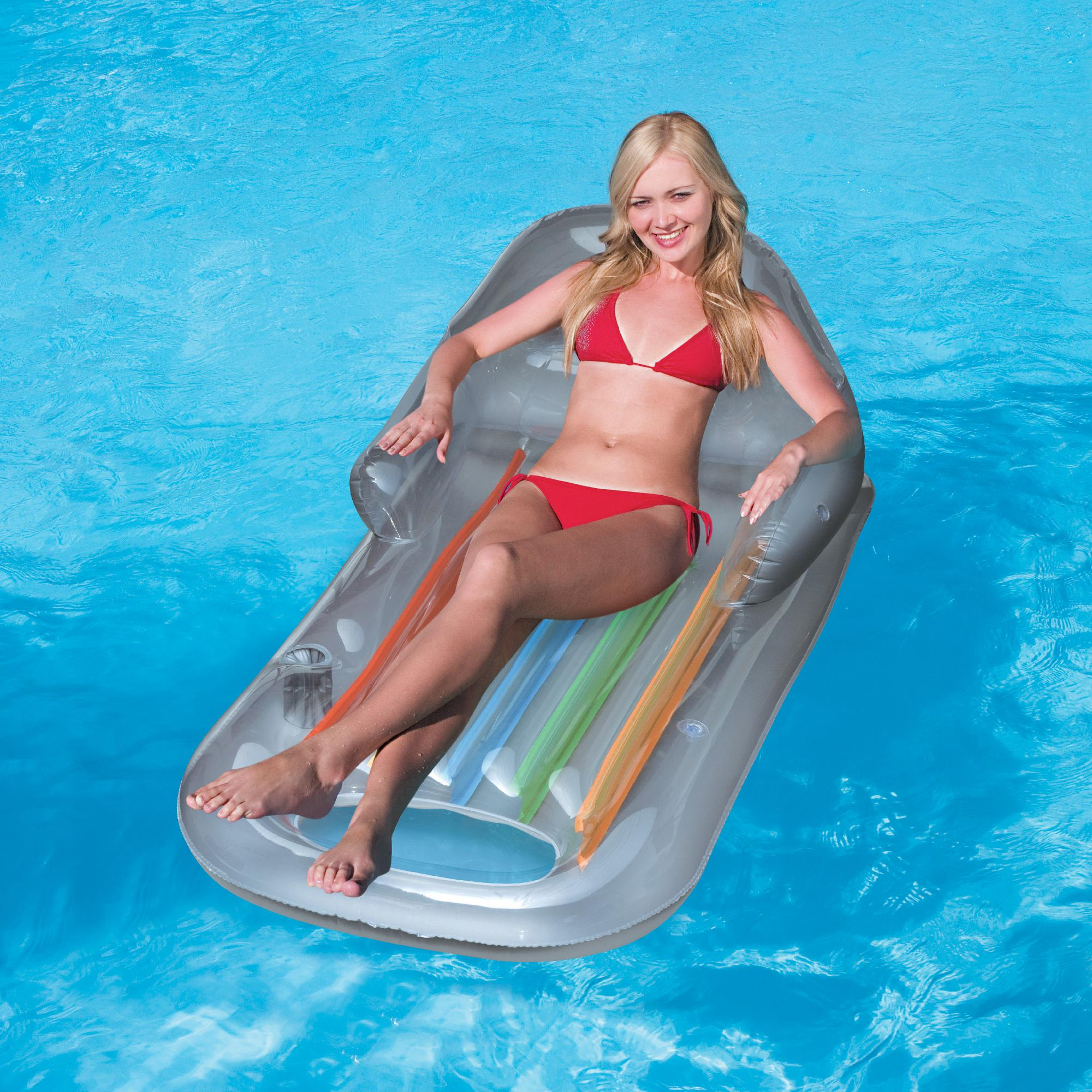 pool floating lounge chair graco swing zebra splash and play designer fashion tanning inflatable
