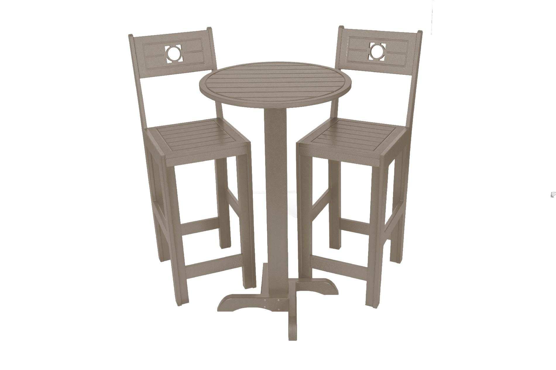 industrial bistro chairs drop side table and eagle one bar commercial grade set driftwood