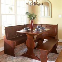 Kitchen Table Sets Mexican Style Dining Sears Essential Home 3 Pc Emily Breakfast Nook Walnut