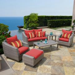 6pc Outdoor Patio Garden Wicker Furniture Rattan Sofa Set Sectional Grey Decor To Match Brown Casual Seating Sets: All Weather - Sears