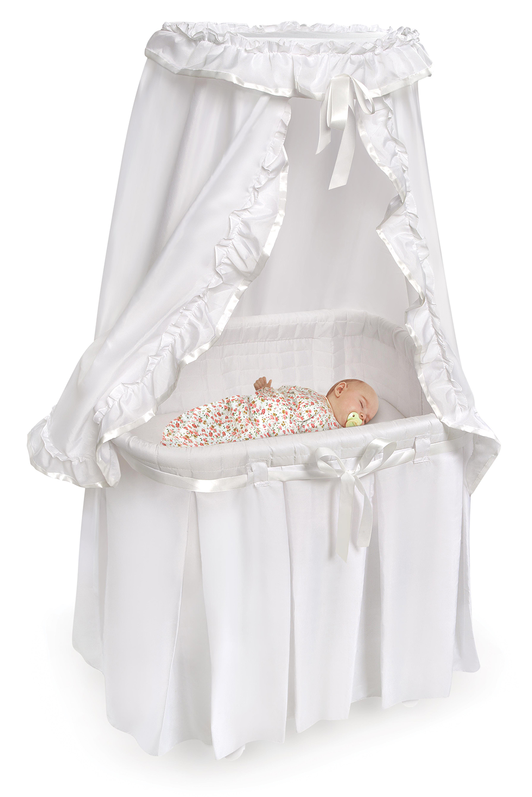 Badger Basket 30060 Majesty Bassinet With Canopy And