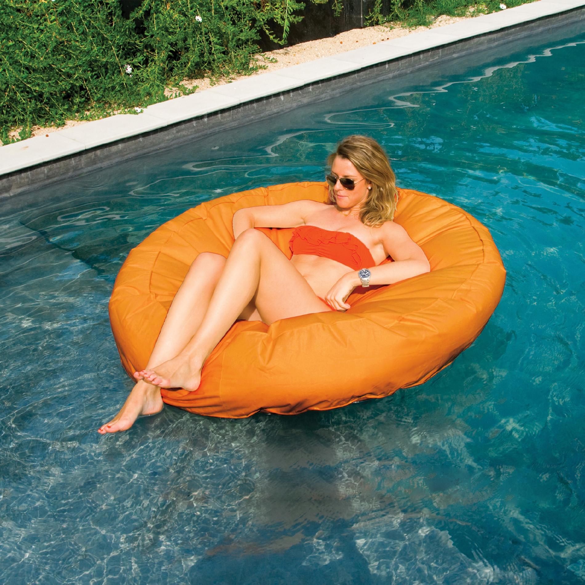 chair pool floats desk leg support swimline sunsoft circular inflatable float toys
