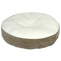 Happy Hounds Scout Deluxe Round Dog Bed- Large (42) Latte ...