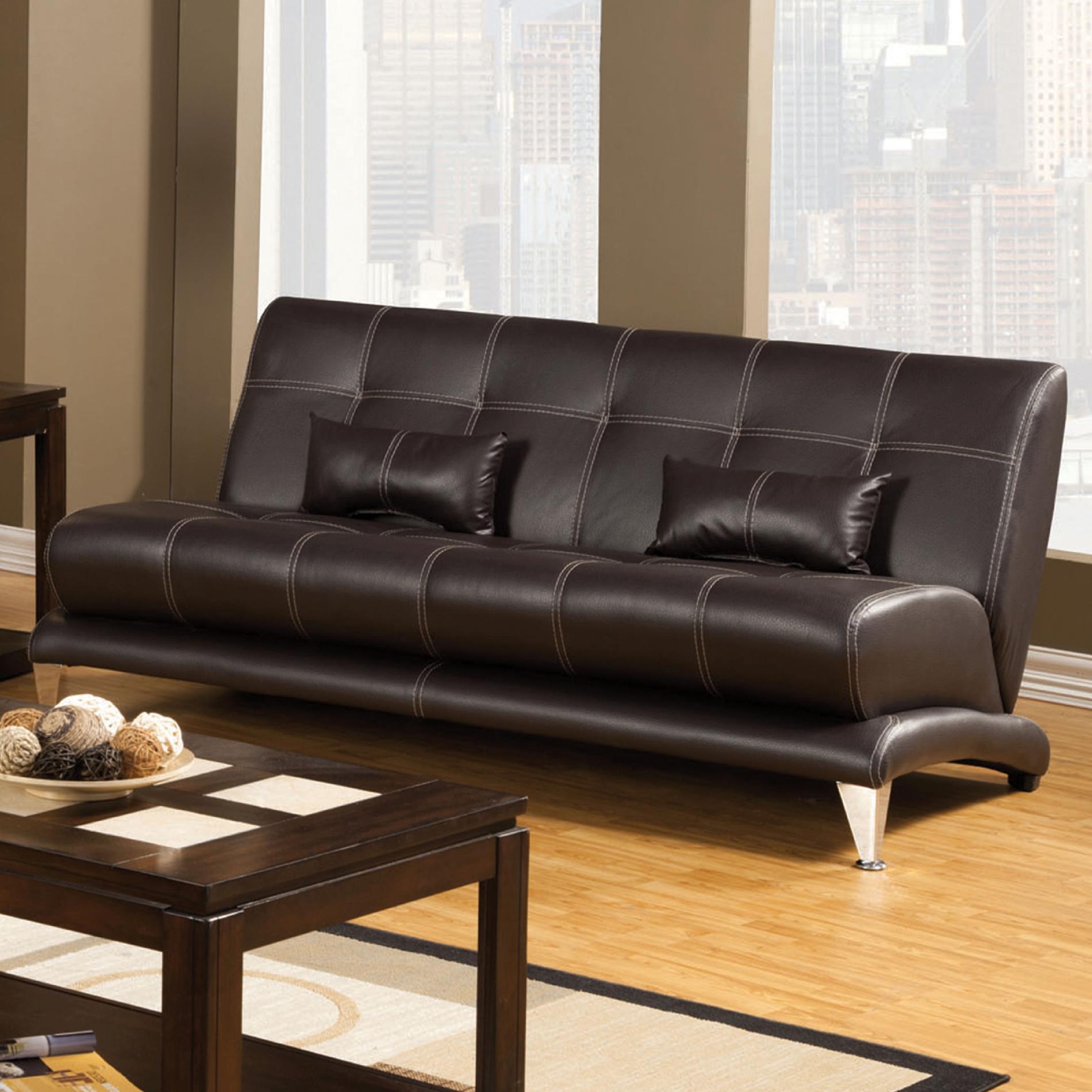 leatherette sofa buy cheap venetian worldwide artem chocolate brown