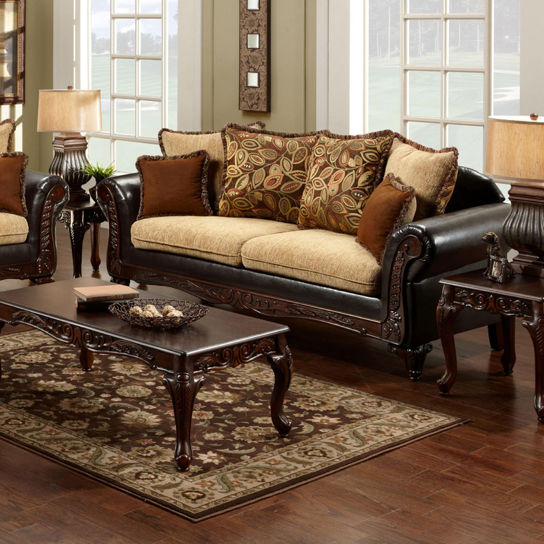 leatherette vs fabric sofa reclining corner bed venetian worldwide doncaster tan and espresso