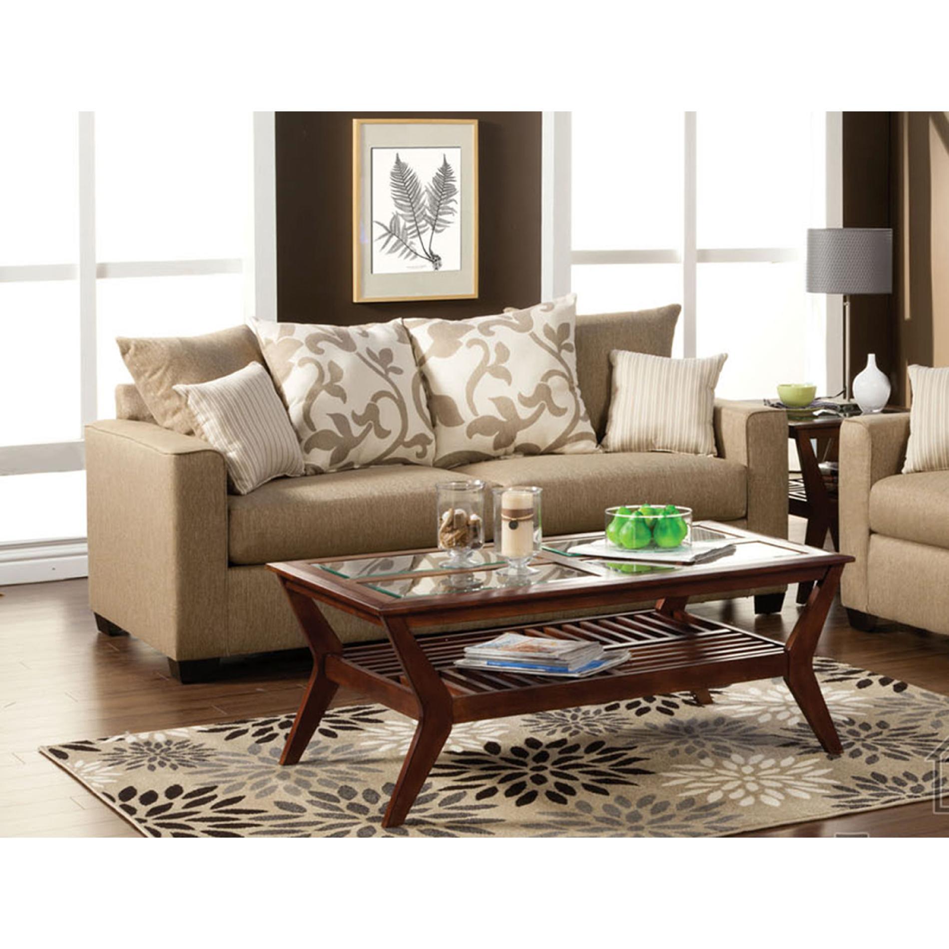 Venetian Worldwide Colebrook Beige Sofa With Pillows