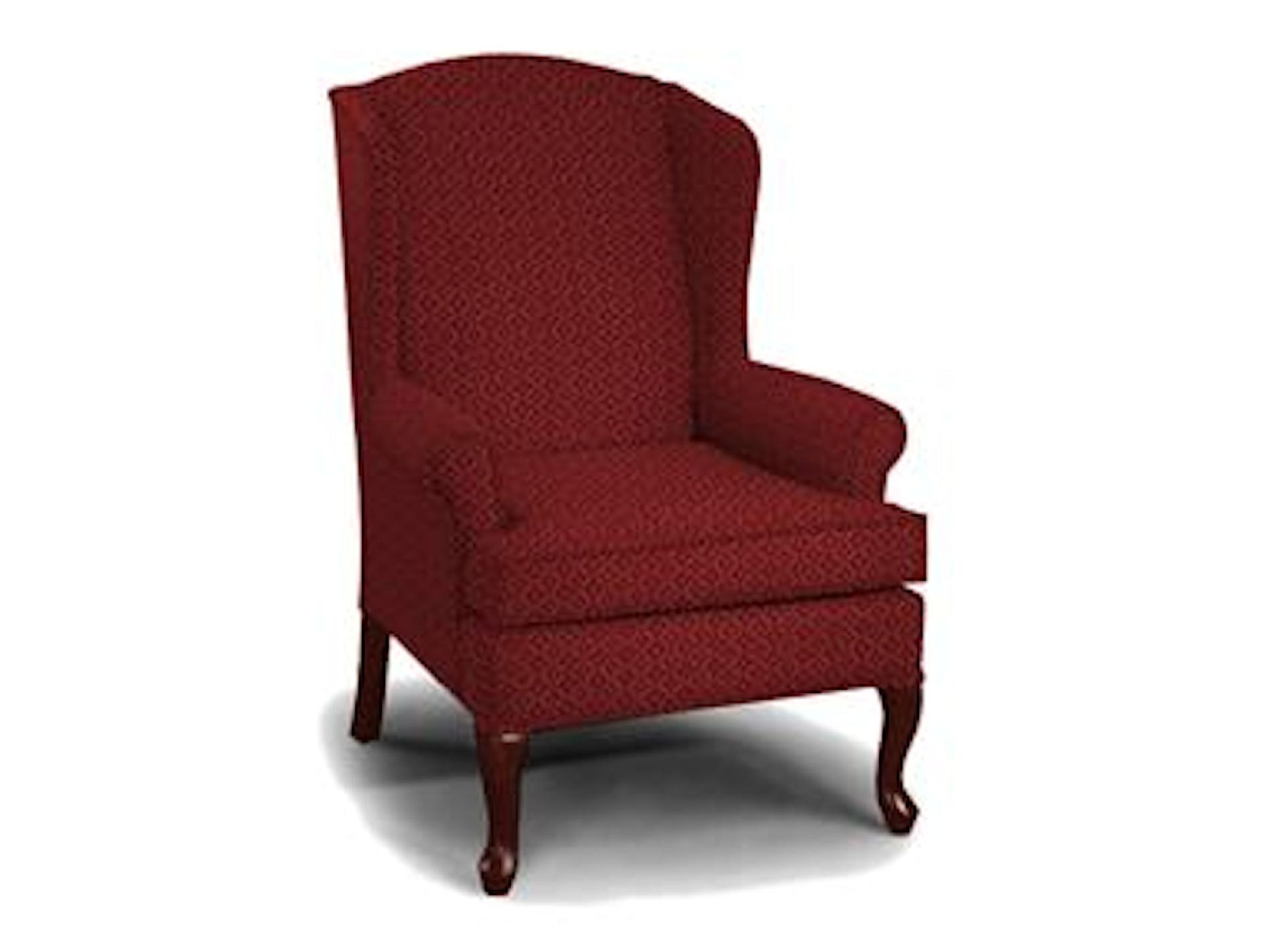 traditional wingback chair sierra off white accent best home furnishings chester wing