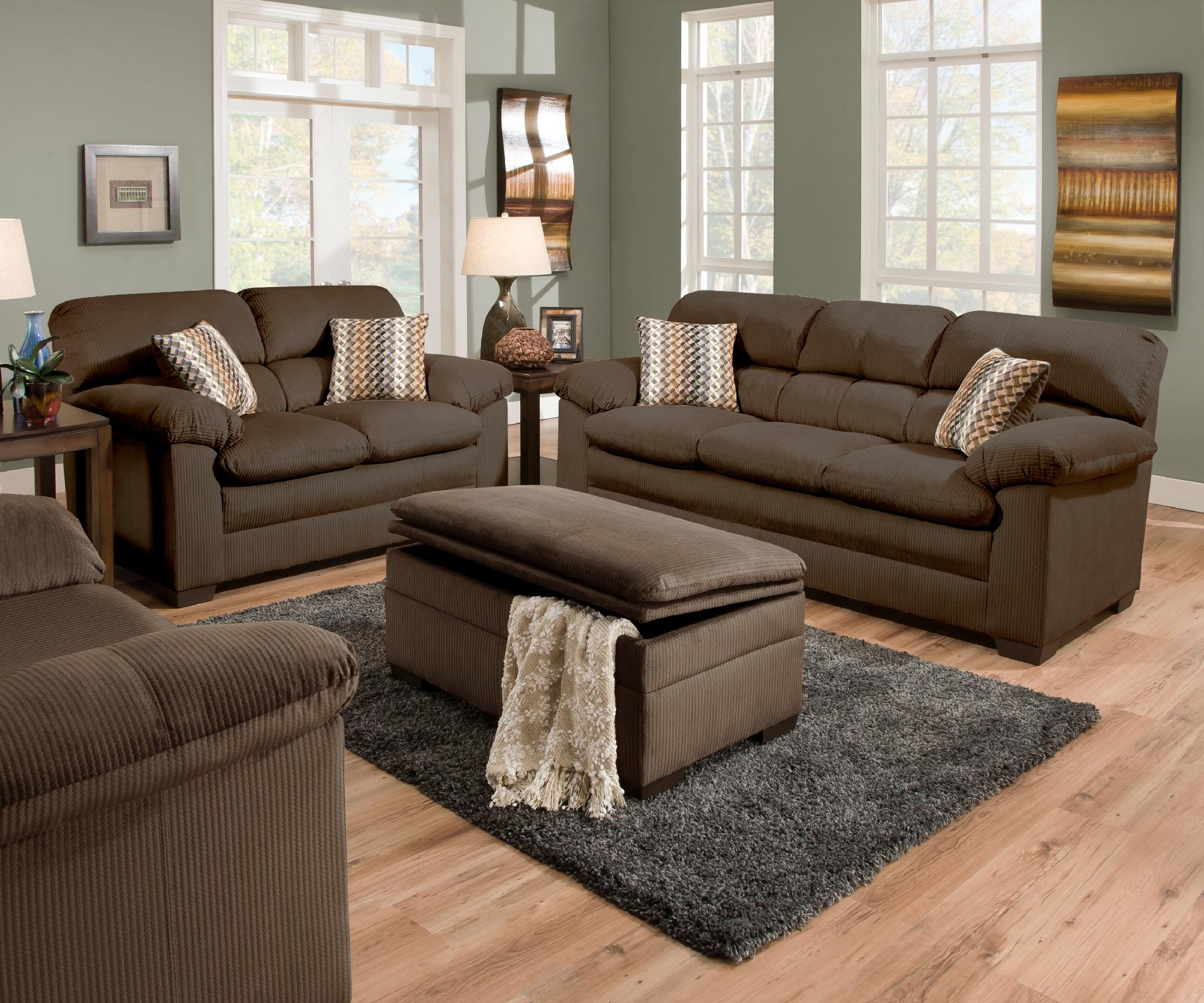 sofa mart lakewood patio outdoor furniture wicker set simmons upholstery loveseat cappucinno shop