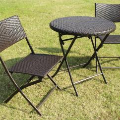 Bistro Table And Chairs Kmart Posture Support Chair Cushion Bellini Home Gardens Wildon 3 Pc Folding Patio Set