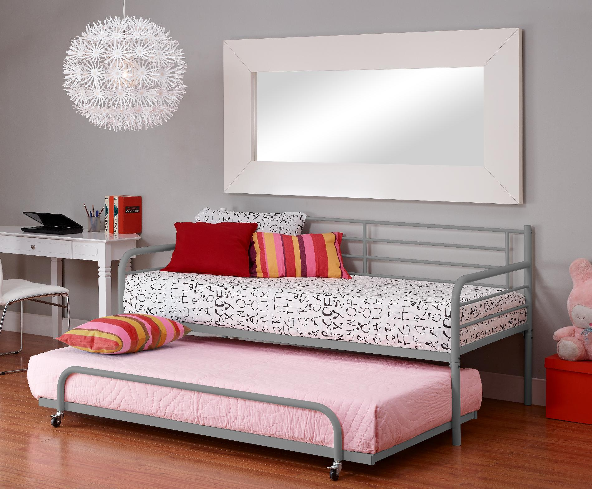 Dorel Home Furnishings Silver Trundle Daybed