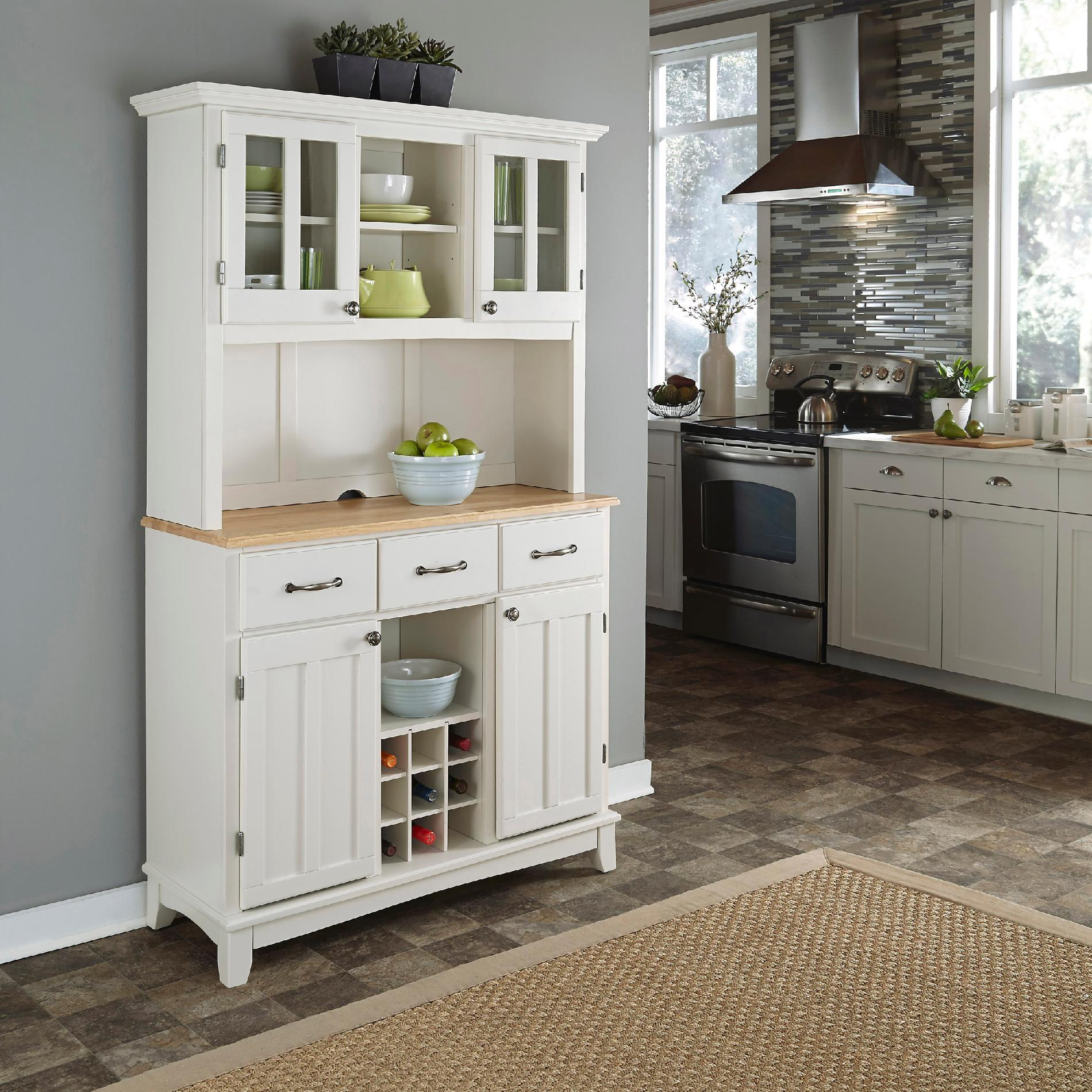 kitchen hutch buffet cabinets paint home styles dining room white