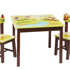 Kids Table And Chair Set Kmart Healthy Office Chairs Guidecraft Jungle Party