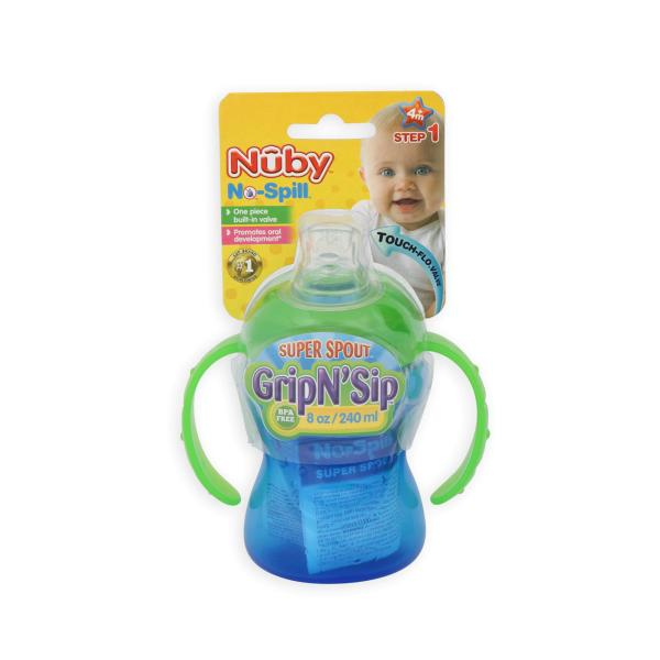 Nuby Infant' 8-ounce Super Spout -spill Grip '' Sip Cup Online Shopping