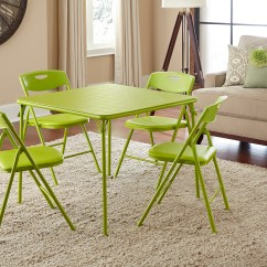 Cosco Card Table And Chairs Swing Chair In Bangladesh Home Office Products 5 Piece Apple Green Folding