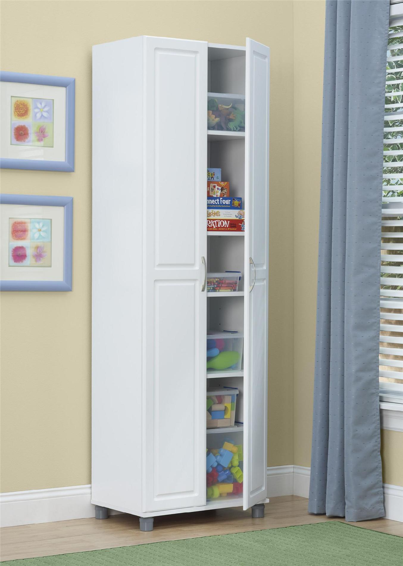 Dorel Kendall 24 White Utility Storage Cabinet