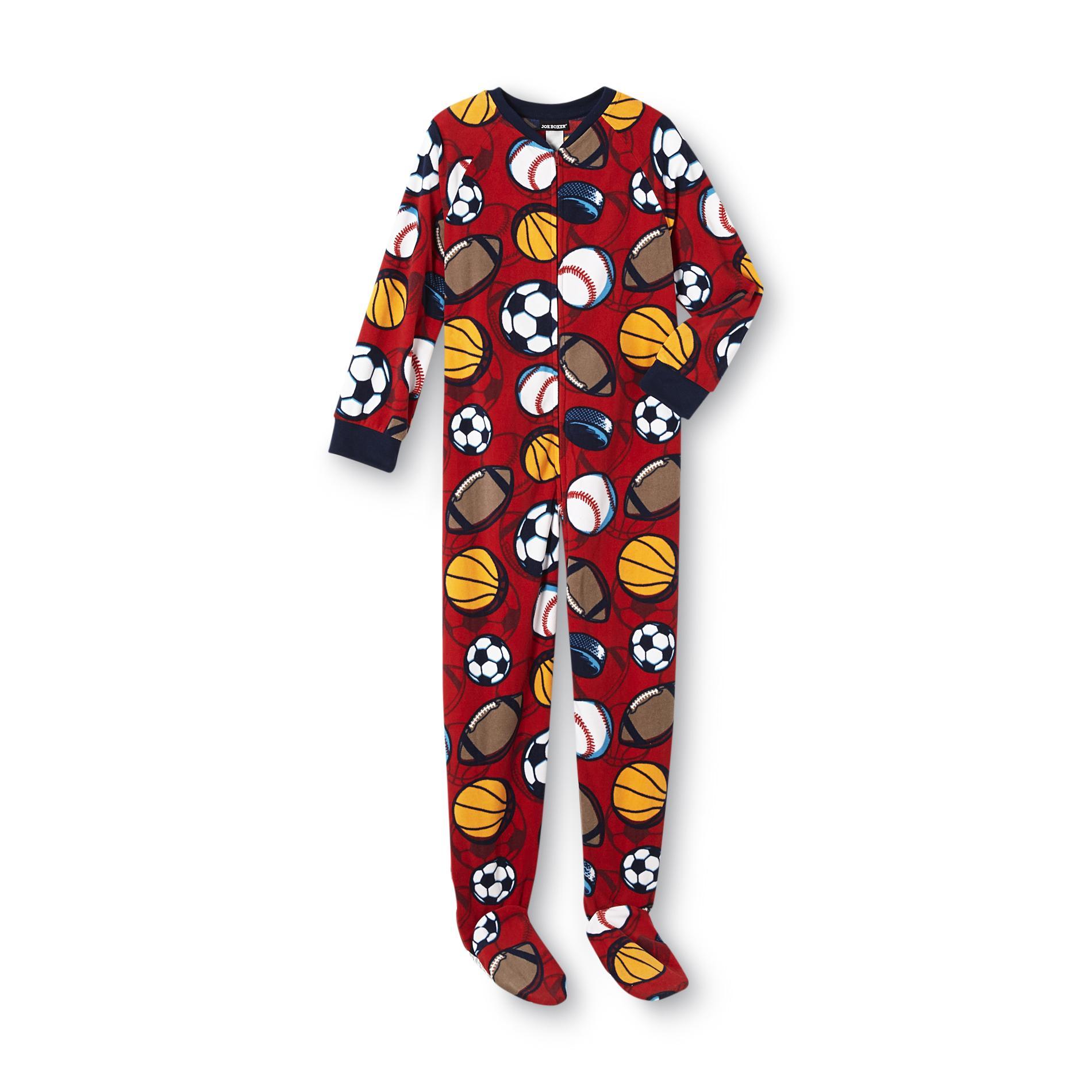 Joe Boxer Footed Pajamas Boys