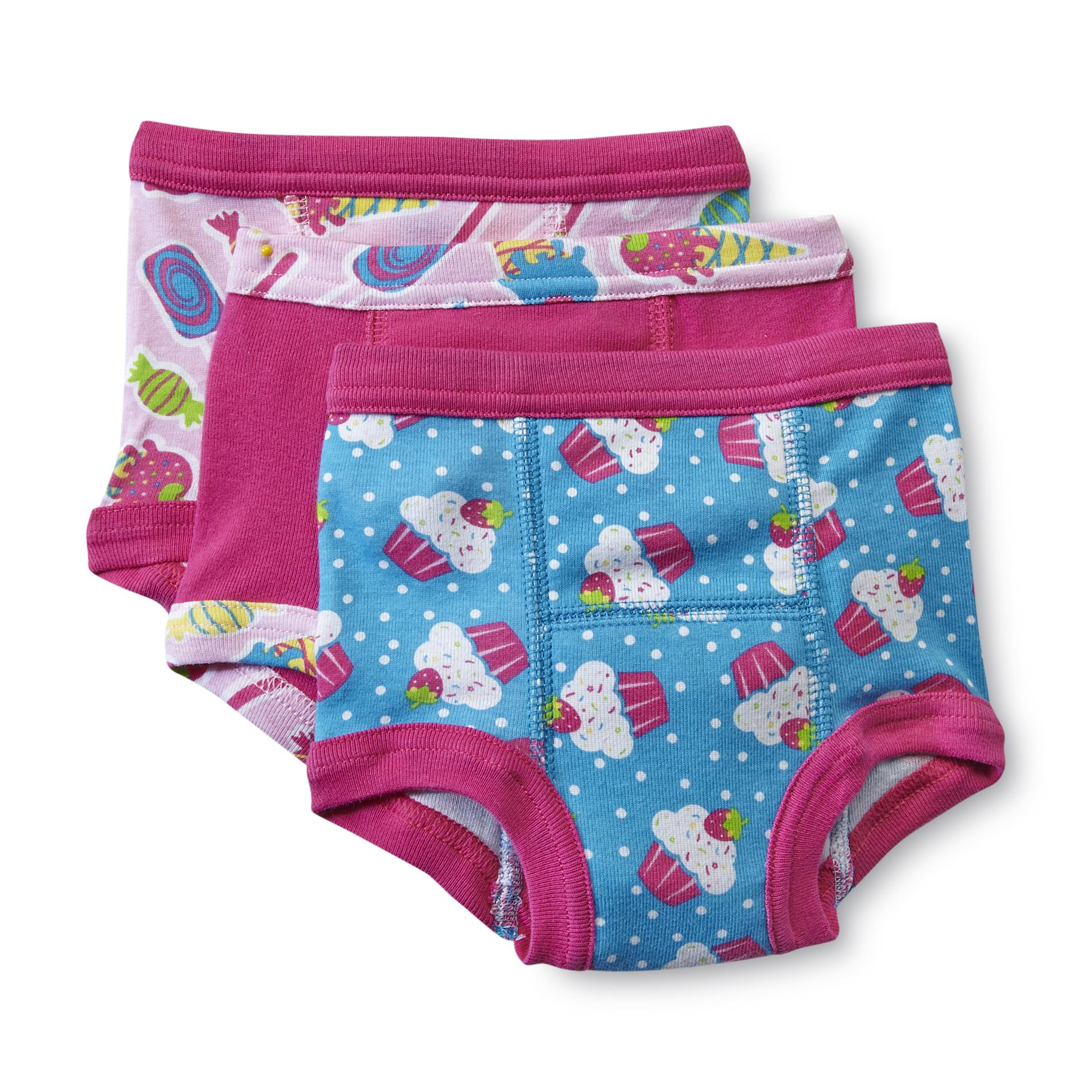 Joe Boxer Toddler Girl' 3-pack Training Pants - Cupcake Print
