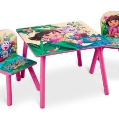 Kids Table And Chair Set Kmart Covers Ideas For Weddings Delta Children Nickelodeon 39s Dora The Explorer Square