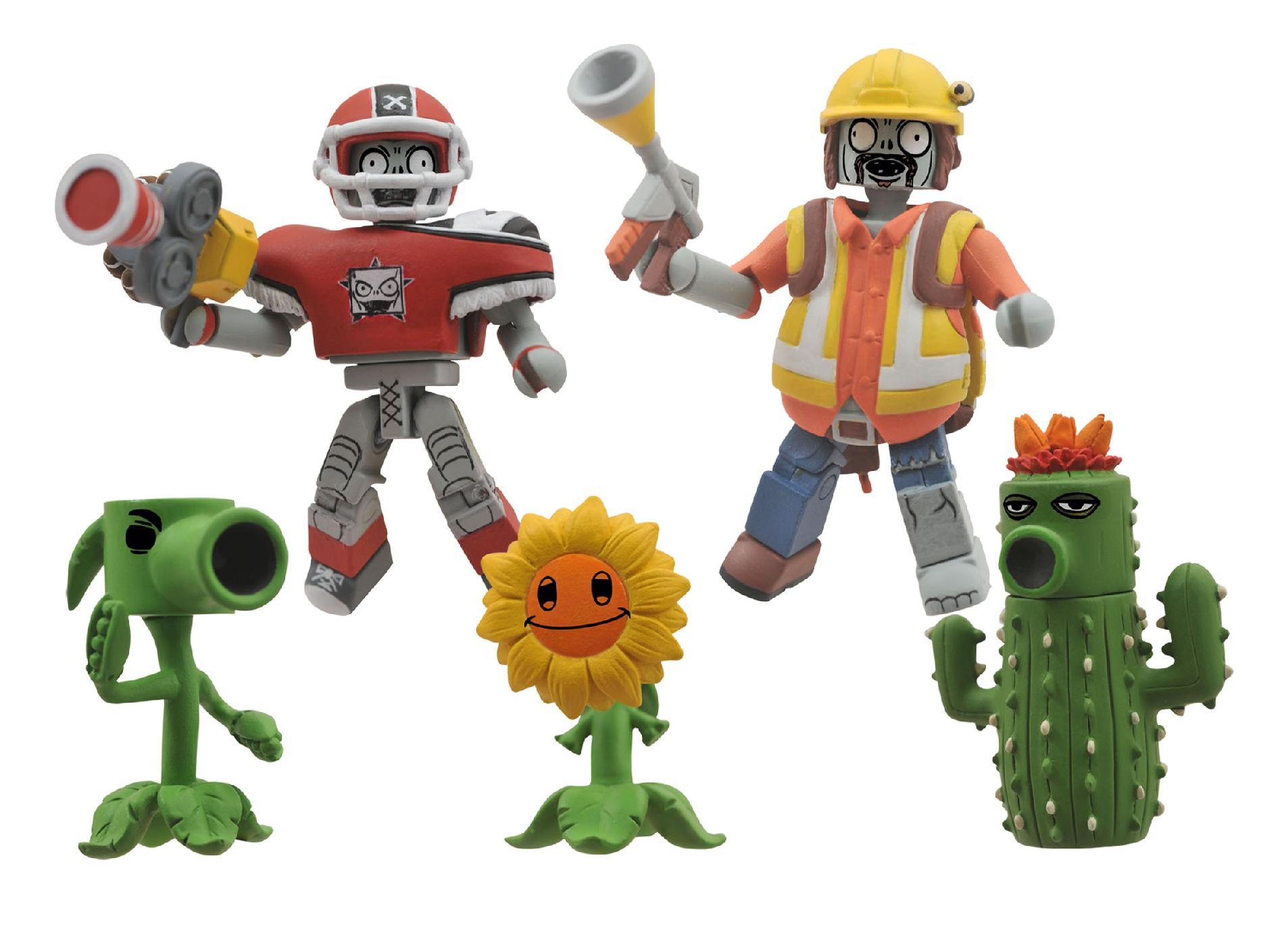 Diamond Select Toys Plants Vs Zombies Minimates Garden