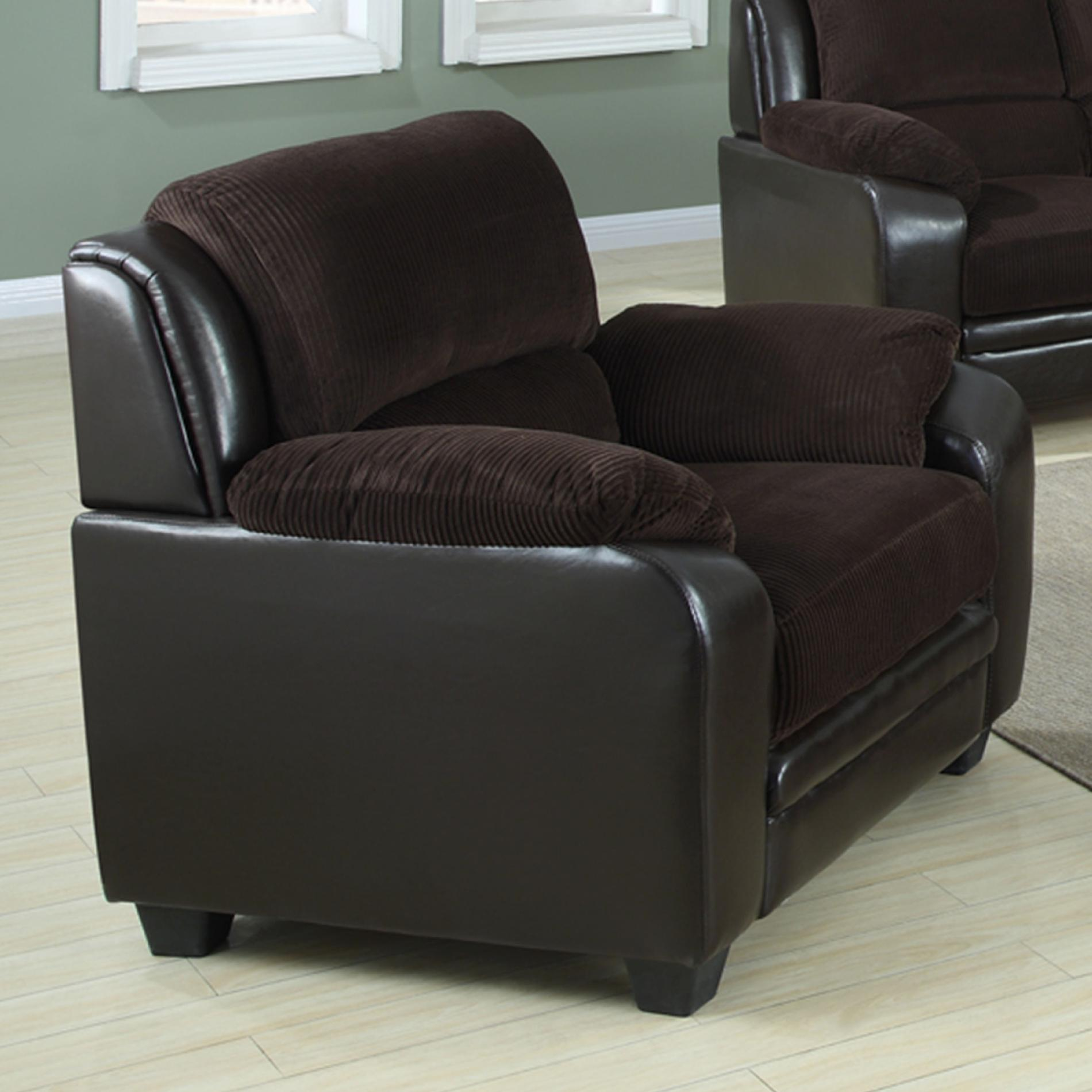 Barton Chair Venetian Worldwide Barton Chocolate Brown Corduroy Chair