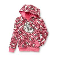 Hello Kitty Toddler Girl's Sequined Hoodie Jacket - Bows ...