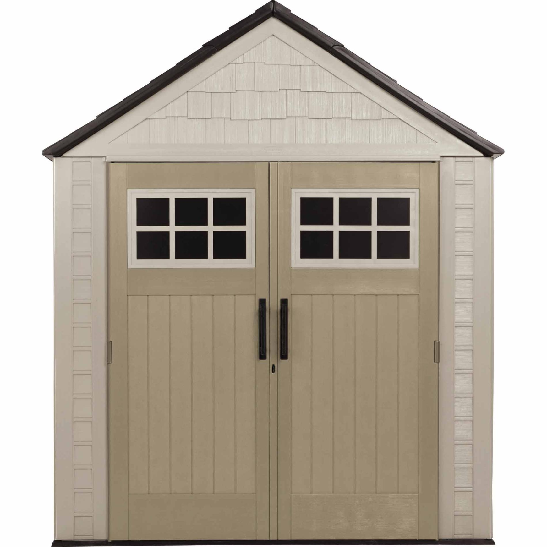 Rubbermaid Outdoor Resin Storage Shed 7' X - Lawn