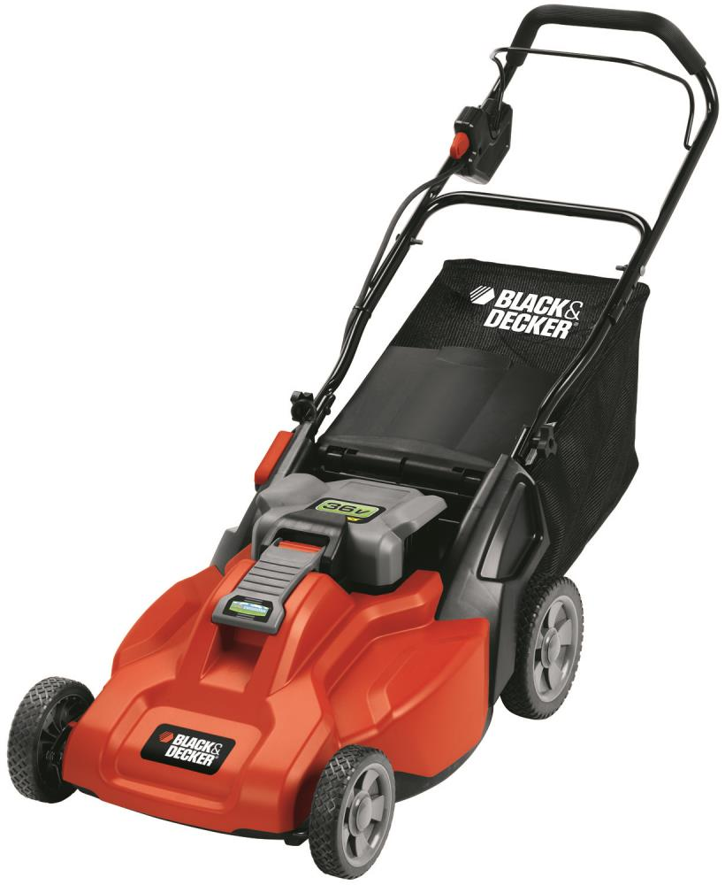 Black & Decker 19 In. 36 Volt Rechargeable Mulching Mower With Lift- Battery - Lawn Garden