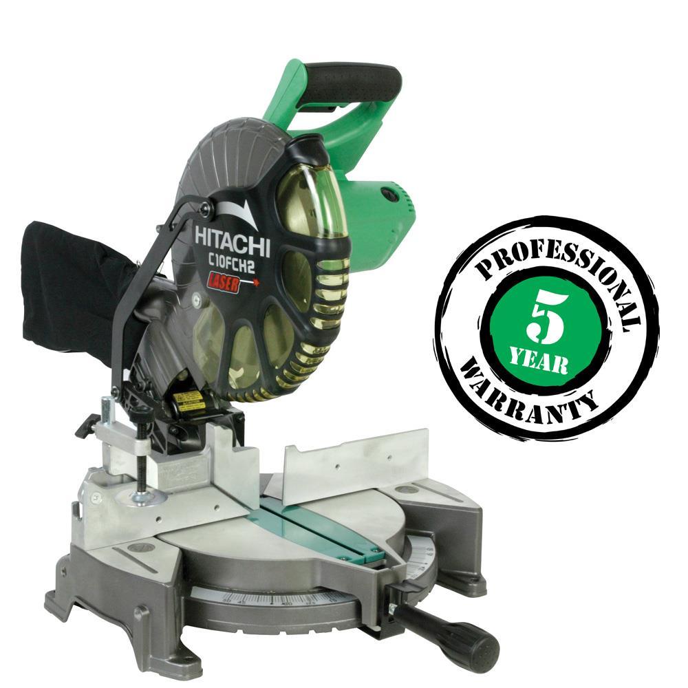 Hitachi 15-amp 10- Compound Miter With Laser Marker