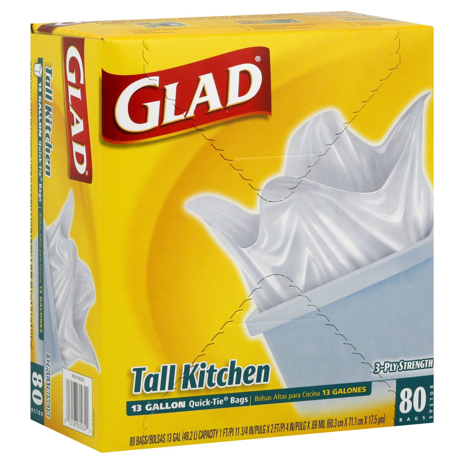 glad kitchen bags aid blender quick tie tall 13 gallon 80