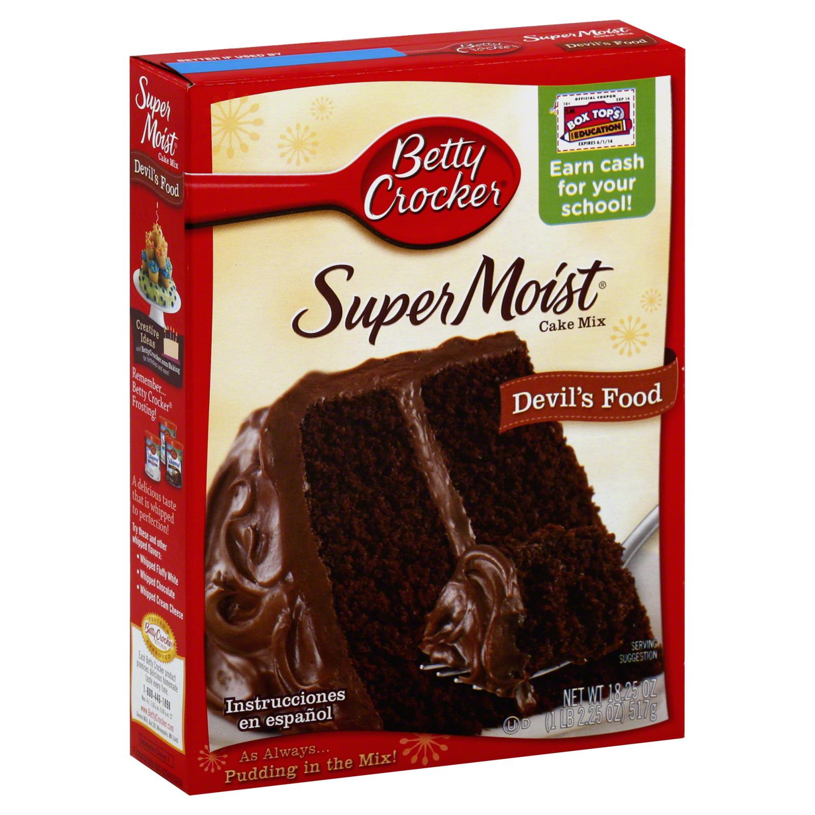 Betty Crocker Super Moist Cake Mix Devil S Food 18 25 Oz