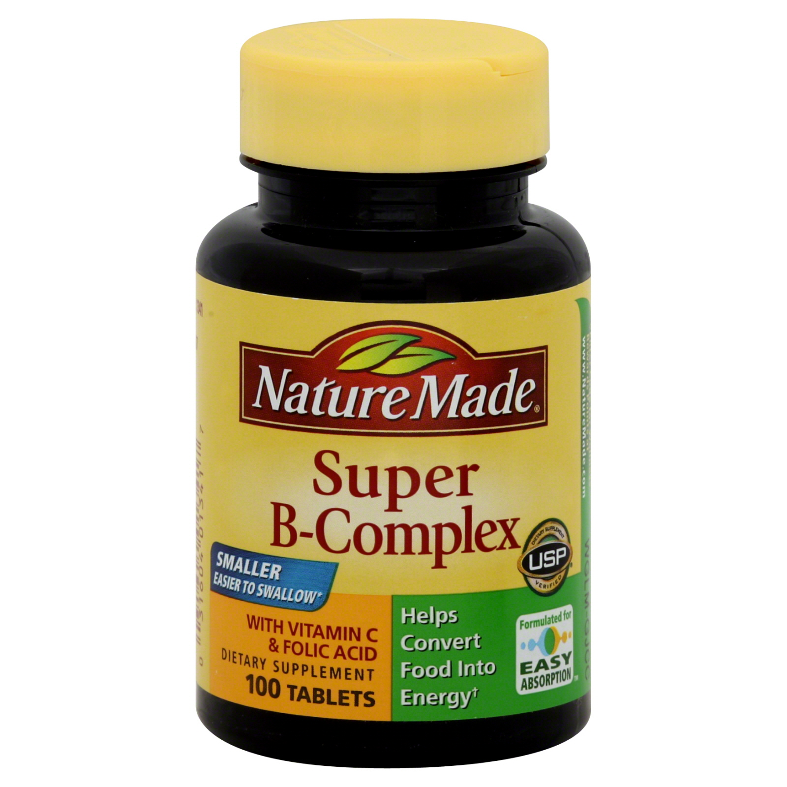 Nature Made Super B Complex With Vitamin C Tablets 100 Count