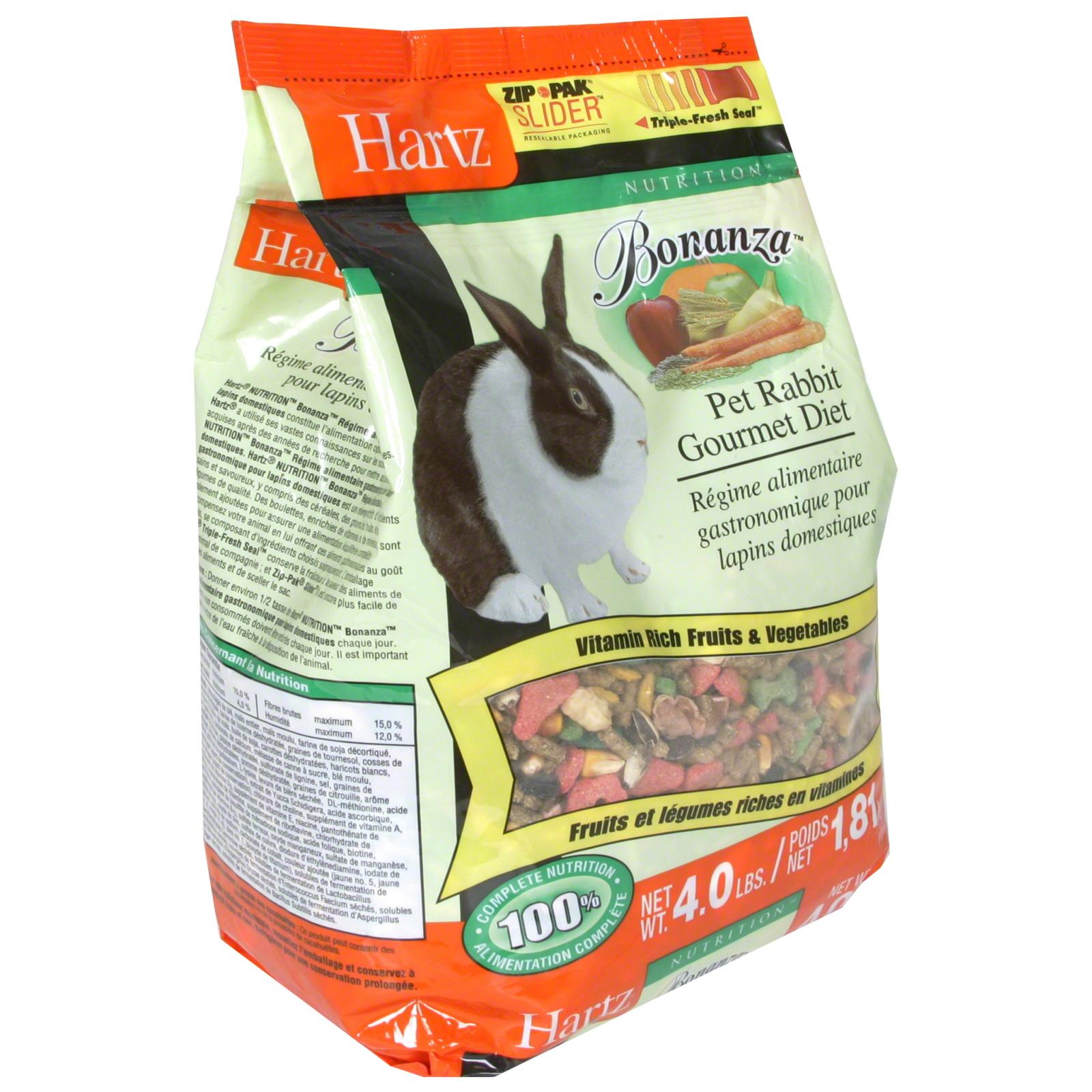 Hartz Bonanza Pet Rabbit Gourmet Diet 4 lb 181 kg