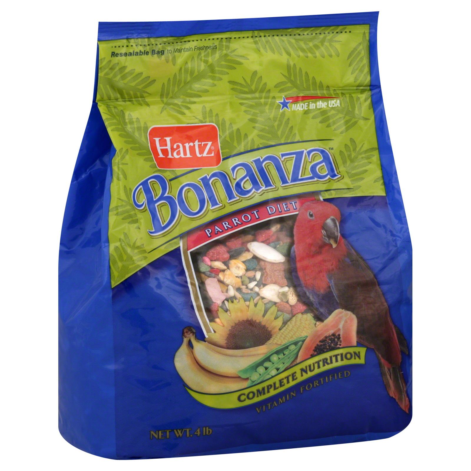 Hartz Bonanza Parrot Diet Bird Food 4 lb Bag