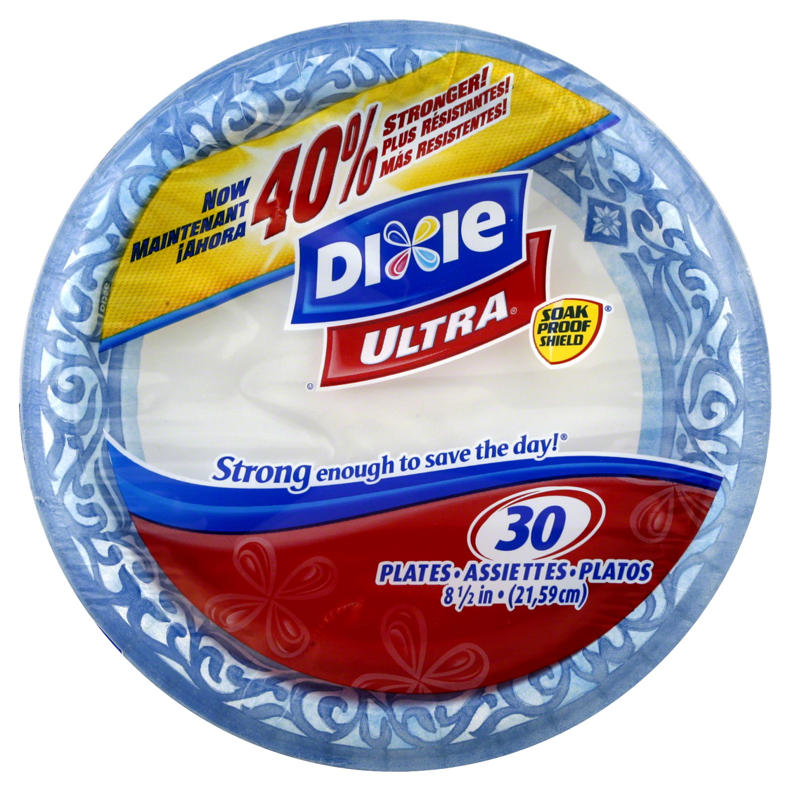 Dixie Ultra Plates 812 Inch 30 plates