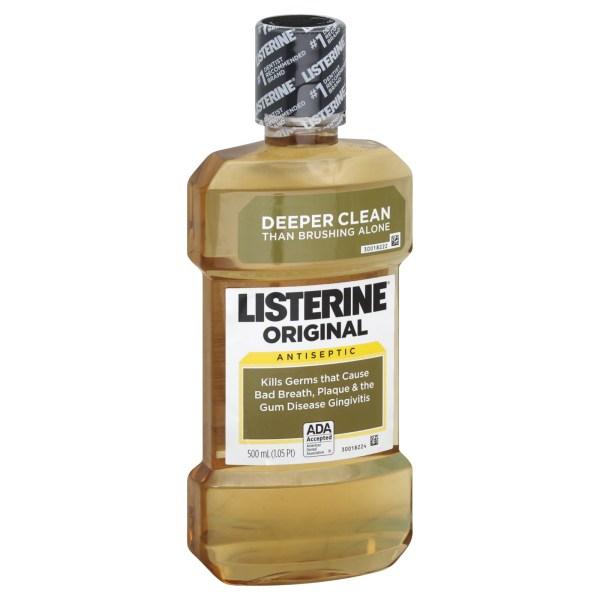 Listerine Mouthwash Antiseptic Vanilla