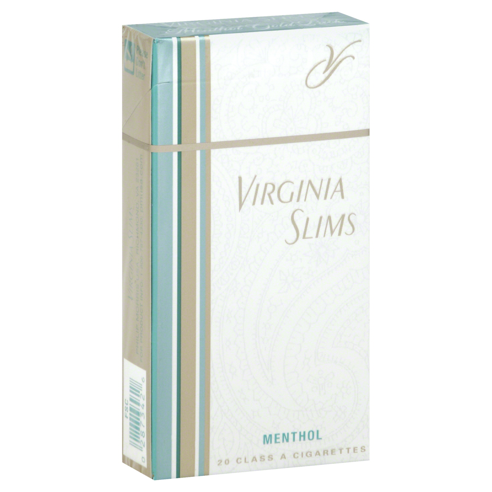 Virginia Slims Cigarettes Class A Menthol Gold Pack 20