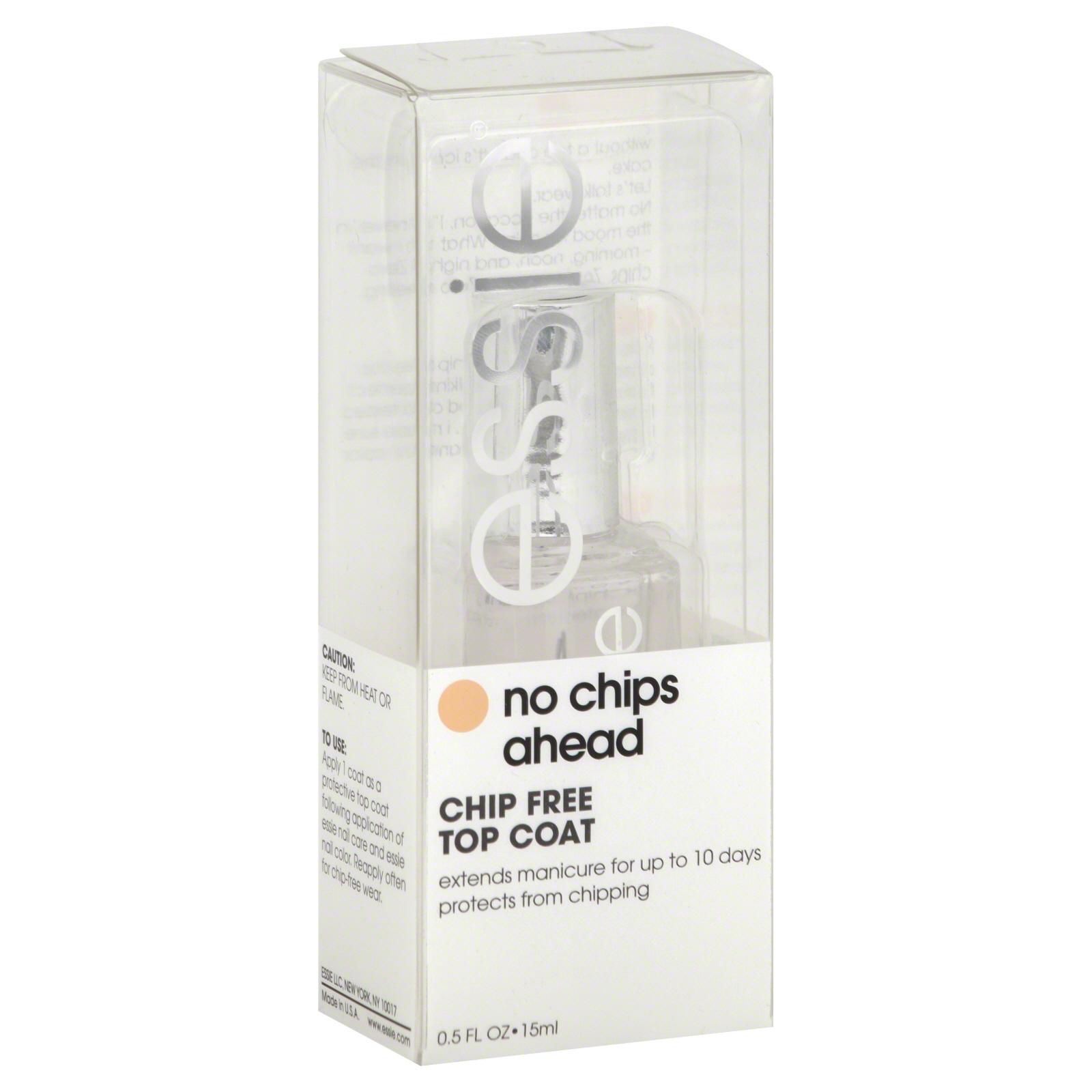 essie top coat chip free chips