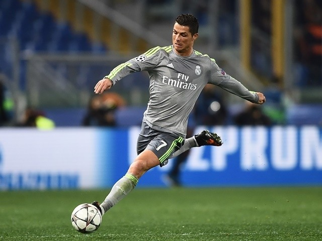 Real Madrid's Cristiano Ronaldo in action against AS Roma in the Champions League on February 17, 2016