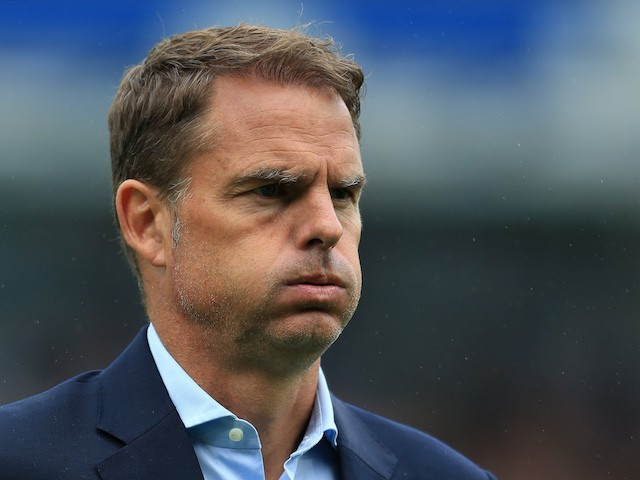 Frank de Boer looks dejected after the Premier League game between Burnley and Crystal Palace on September 10, 2017
