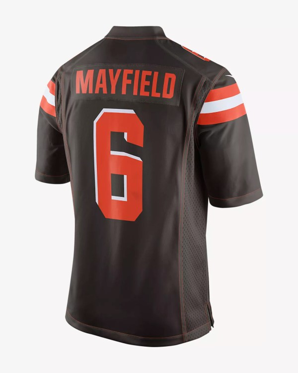 8de3bd911 Cleveland Browns 6 Baker Mayfield Brown Jersey - Year of Clean Water