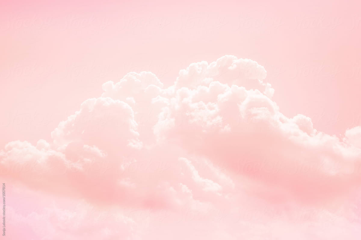 pink sky and cloud