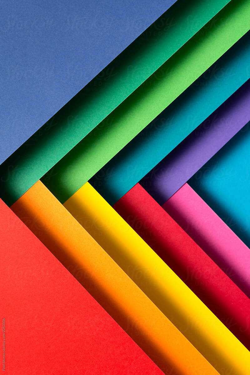 stock photo colorful triangle