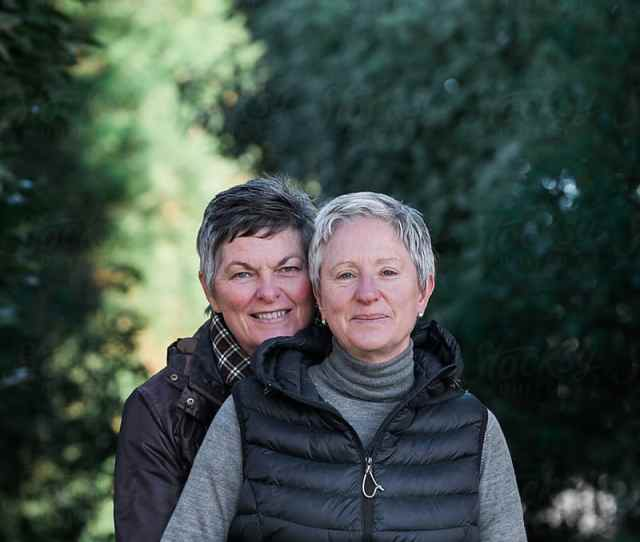 Mature Lesbian Couple Embracing