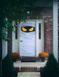 Spooky Halloween Door Wrapped Up As Mummy by Sean Locke ...