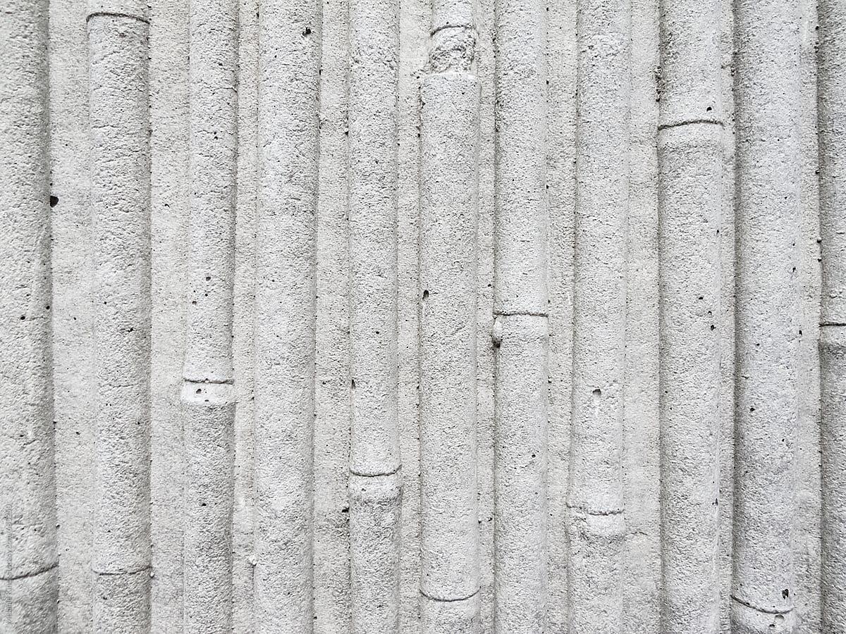 Bamboo pattern as a concrete wall by Melanie Kintz