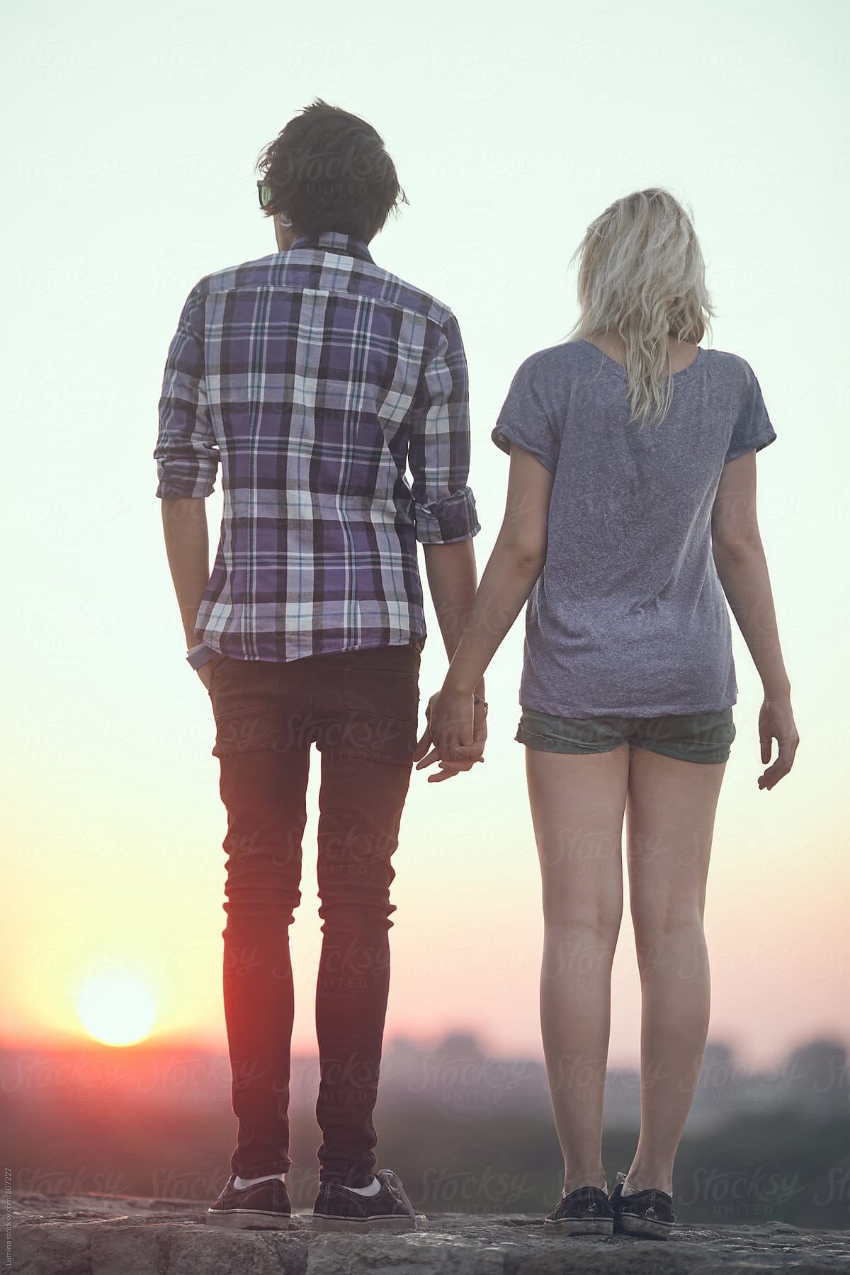 Cute Little Boy And Girl Wallpapers Teenage Couple Holding Hands Stocksy United