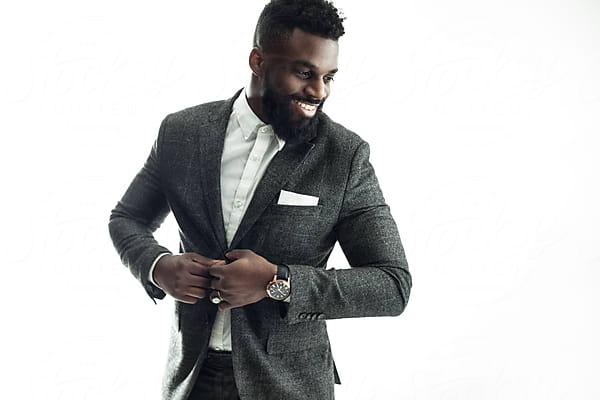 fashionable young black man