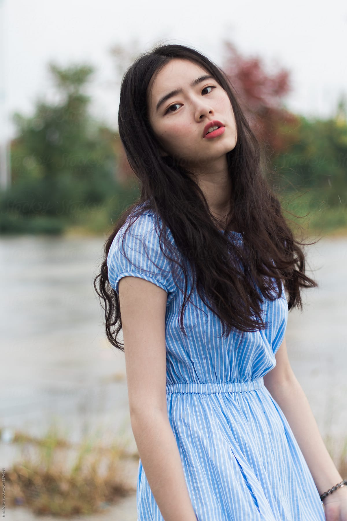 chic chinese girl by